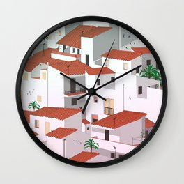 Sunset in my town Wall Clock