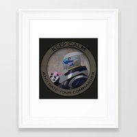 garrus Framed Art Prints featuring Garrus by Fyrielle