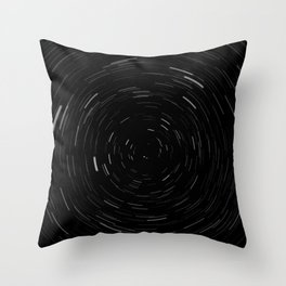 Large Star Trails Throw Pillow