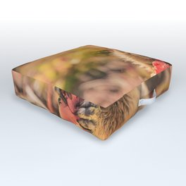 Have a smile for breakfast Outdoor Floor Cushion