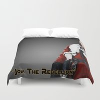 poe Duvet Covers featuring Poe by KL Design Solutions