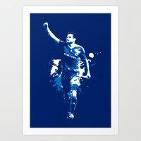 chelsea fc Art Prints featuring Frank Lampard - Chelsea FC by Søren Schrøder
