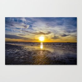 cape charles sunset Canvas Print