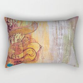 Enchanted Bunny Beats The Burst Rectangular Pillow