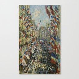 The Rue Montorgueil in Paris Canvas Print