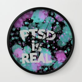 PTSD is Real: Paint Splatters Wall Clock