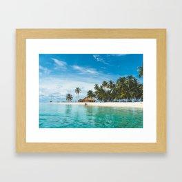 Huts on the San Blas Islands, Panama Framed Art Print