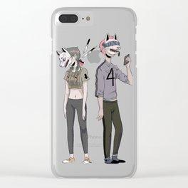 f o u r Clear iPhone Case