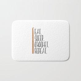 Eat Sleep Crochet Repeat Bath Mat