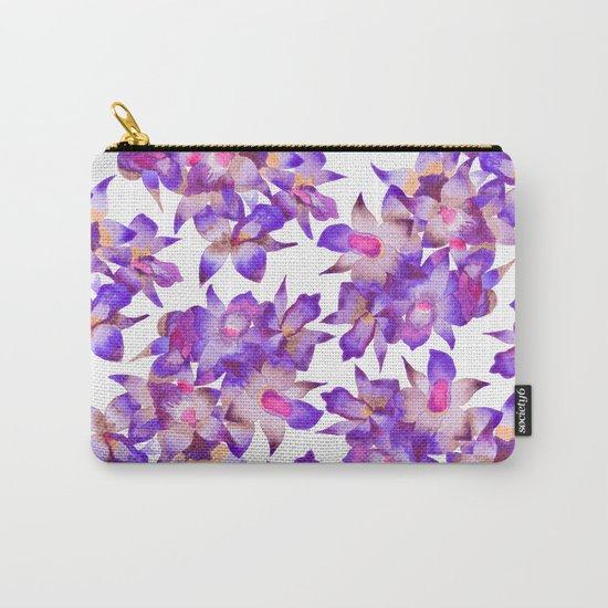 Vintage Floral Violet Carry-All Pouch