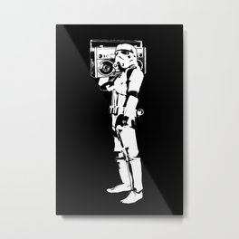 Boombox Trooper Metal Print