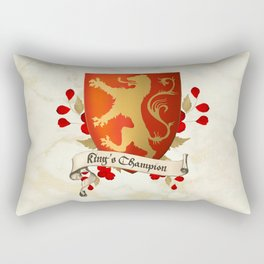 King's Champion - Lioness Shield Rectangular Pillow