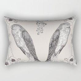 Summer Swallow Rectangular Pillow