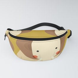 Elephant, Animal Portrait Fanny Pack