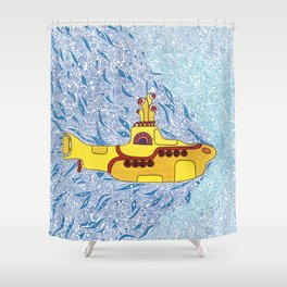 My Yellow Submarine Shower Curtain