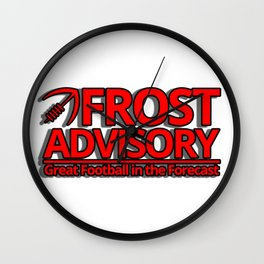 frost advisory Wall Clock