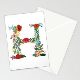 Monogram Letter H Stationery Cards