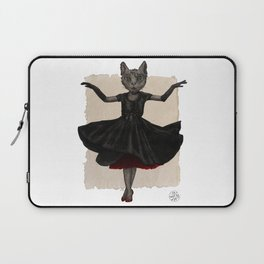 Twirling, Twirling, Couture Kitty Laptop Sleeve