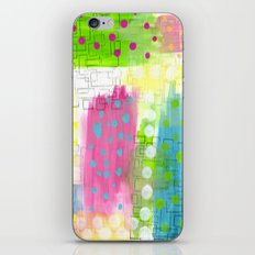 Polk-A-Dotted Background iPhone & iPod Skin