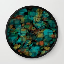 Black and White Squares Pattern 03 Wall Clock