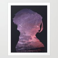 Zutara Lilac Art Print