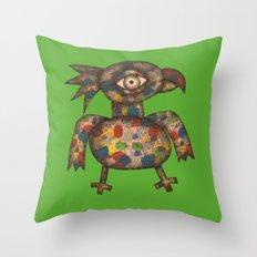 The Green Parrot Throw Pillow
