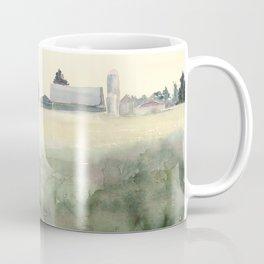Flintville Mist // Watercolor Landscape Painting // Rural Farm Coffee Mug