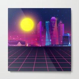 Synth City Metal Print
