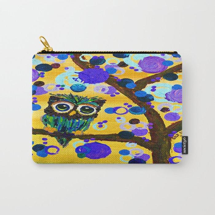 :: Sunshine Gemmy Owl :: Carry-All Pouch