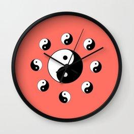 Yin and Yang 19- Tao,Zen,Taoism,Dao,Harmony,religion,buddhism,buddhist,taijitu,taiji,taoist,china Wall Clock