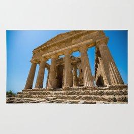 Greece ruined  temple Rug