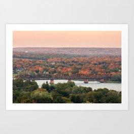 Sunset on the Saint John Art Print