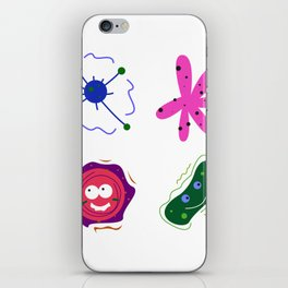 Cute Nostalgia viruses. Virus elements. iPhone Skin