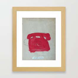 A Bright Red Phone Framed Art Print