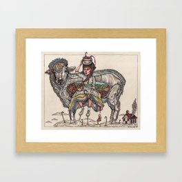 Mary had a Little Lamb. Chop. Framed Art Print