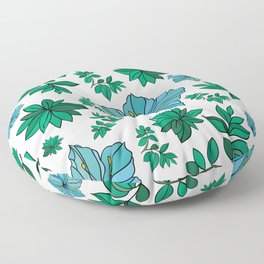 Abstract flowers background Floor Pillow