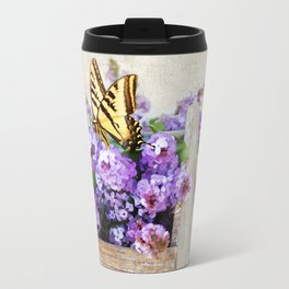 Lilacs and the Butterfly Travel Mug