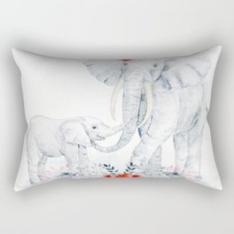 Mother's Day (Mother and Baby Elephants) Rectangular Pillow