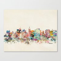 wisconsin Canvas Prints featuring madison wisconsin by bri.buckley