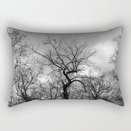 Witchy black and white tree Rectangular Pillow