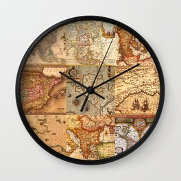 Old maps Wall Clock