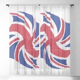 Flag of UK 16- London,united kingdom,england,english,british,great britain,Glasgow,scotland,wales Sheer Curtain