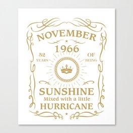 November 1966 Sunshine mixed Hurricane Canvas Print