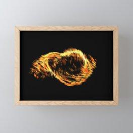 Gouache paint smear three heart Framed Mini Art Print