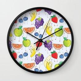 Eat Your Dang Fruit! Wall Clock
