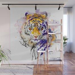 Tiger Head Portrait Wall Mural