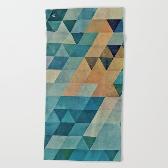 vyntyge pwwdr Beach Towel