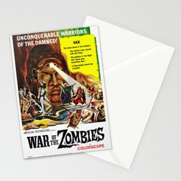 Vintage Film Poster - War of the Zombies (1964) Stationery Cards