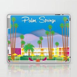 Palm Springs, California - Skyline Illustration by Loose Petals Laptop & iPad Skin