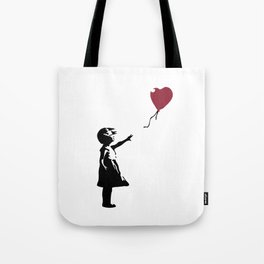Girl With Red Balloon, Banksy, Streetart Street Art, Grafitti, Artwork, Design For Men, Women, Kids Tote Bag